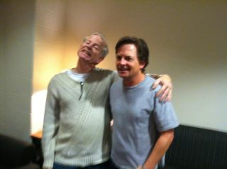 Michael J Fox with Brad October 2011 at RIT